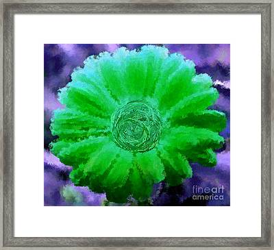 Fall For Me Purple Green Framed Print by Holley Jacobs