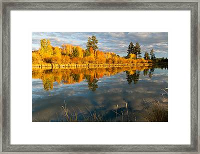 Fall Fractal Framed Print