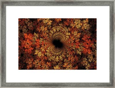 Fall Fractal Mosaic 2014 Framed Print by Doug Morgan