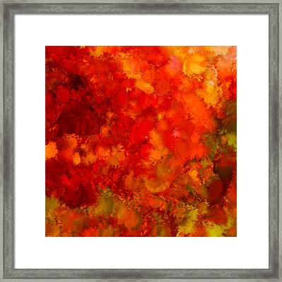 Fall Frolic Framed Print by Lourry Legarde