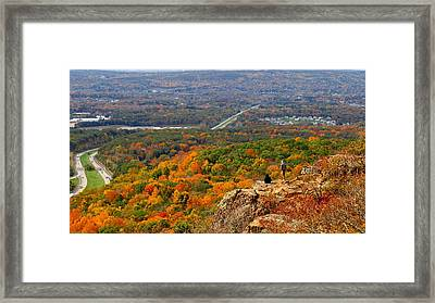 Fall From Castle Craig Framed Print by Stephen Melcher