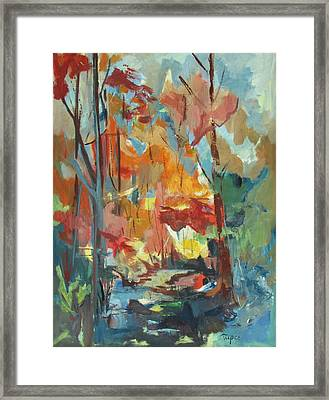 Fall From My Window Framed Print by Betty Pieper