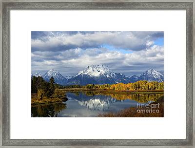 Fall Glory At The Oxbow Framed Print