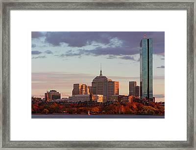 Fall Glory In Boston Framed Print