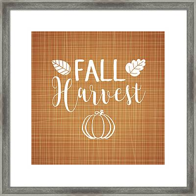 Fall Harvest Framed Print by Tamara Robinson