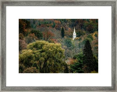 Fall Hilltown Framed Print by Fred LeBlanc
