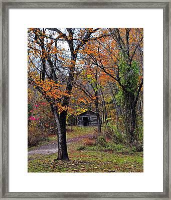 Fall Homestead Framed Print by Marty Koch