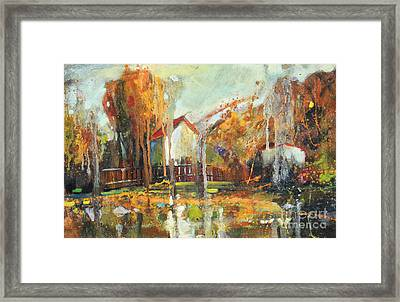 Fall Impressions Framed Print by Michal Kwarciak