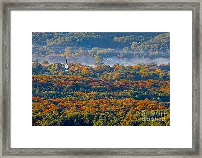 Fall In Arcadia Framed Print by Twenty Two North Photography