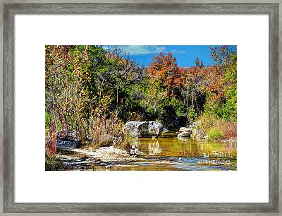 Fall In Central Texas Framed Print by Savannah Gibbs