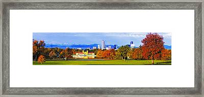 Fall In Denver Colorado Framed Print