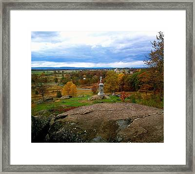 Fall In Gettysburg Framed Print by Amazing Photographs AKA Christian Wilson