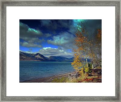 Framed Print featuring the photograph Fall In Jackson Lake by Irina Hays