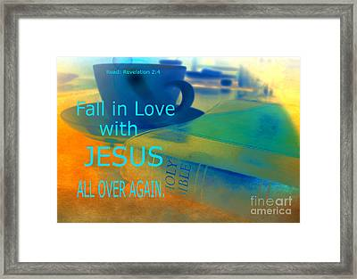 Fall In Love Framed Print by Beverly Guilliams