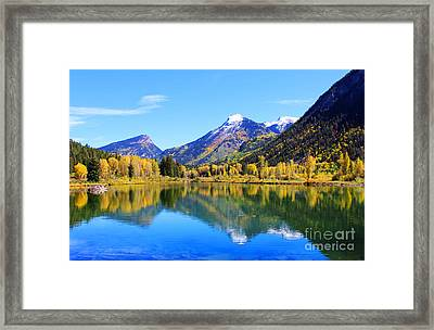 Fall In Marble Framed Print