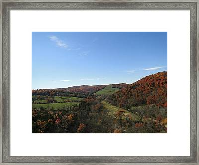 Fall In Missouri Framed Print by Cindy Croal
