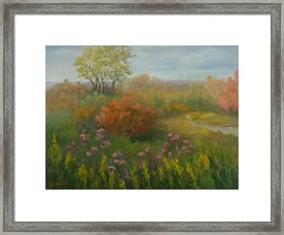 Fall In New England Framed Print by Pamela Allegretto
