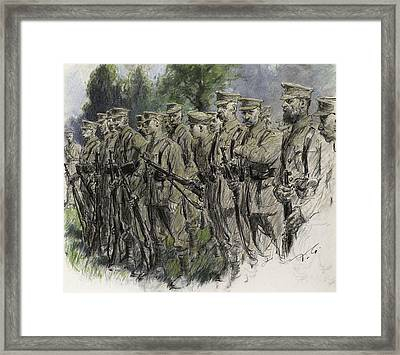 Fall In Norfolk Volunteers Framed Print by Frank Gillett