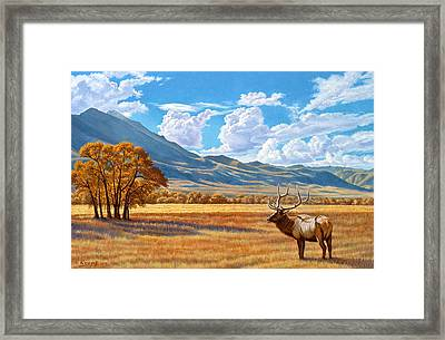 Fall In Paradise Valley Framed Print by Paul Krapf