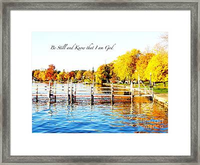 Fall In Skaneateles Ny Framed Print