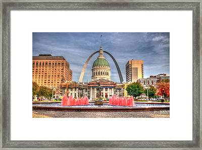 Framed Print featuring the photograph Fall In St. Louis by Deborah Klubertanz