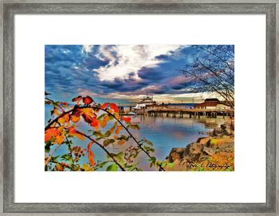 Fall In Steilacoom Framed Print