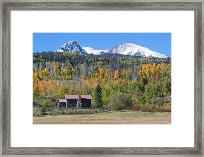 Framed Print featuring the photograph Fall In Summit County by Andrew Serff