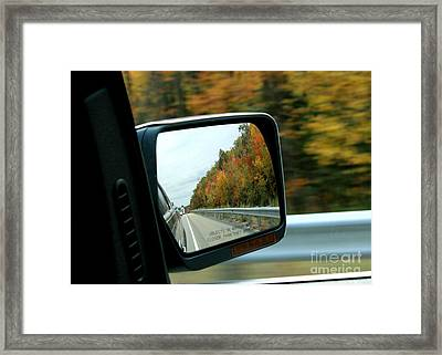 Fall In The Rearview Mirror Framed Print