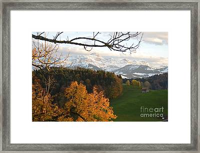Fall In The Swiss Alps Framed Print