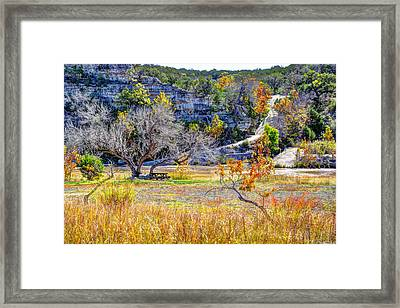 Fall In The Texas Hill Country Framed Print by Savannah Gibbs