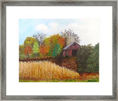 Framed Print featuring the painting Fall In Wisconsin by Sharon Schultz