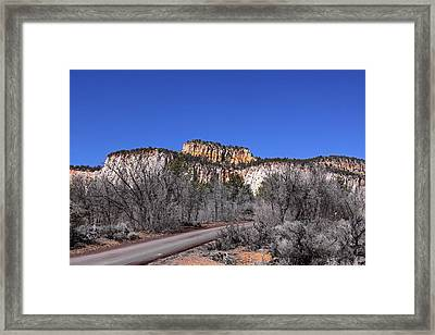 Fall In Zion National Park Framed Print by Viktor Savchenko