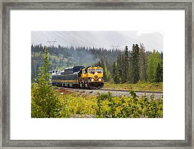 Fall Is Here In Alaska Framed Print