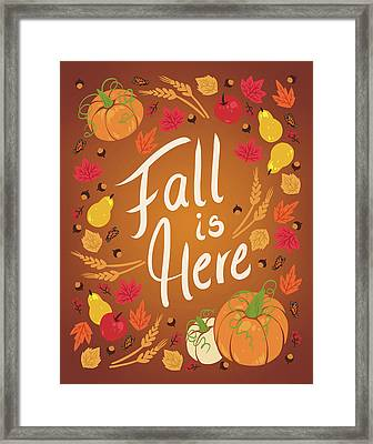 Fall Is Here Framed Print by Wild Apple Portfolio