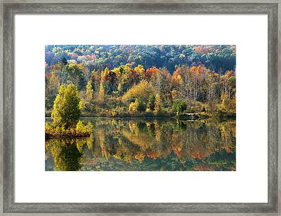 Fall Kaleidoscope Framed Print
