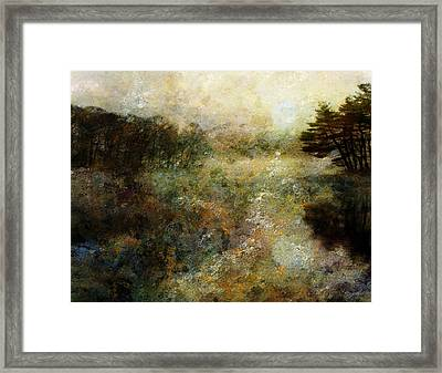 Framed Print featuring the digital art Fall Lake by Bruce Rolff