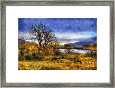 Fall Lake Framed Print by Ian Mitchell