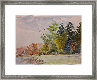 Fall Lake Lucille Framed Print