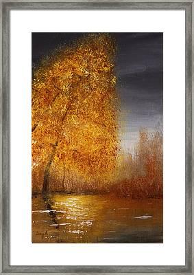Fall Lake Reflections Framed Print