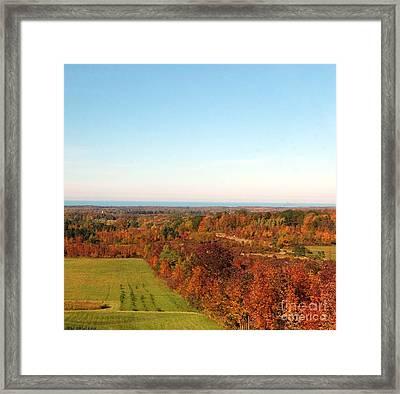 Fall Landscape Framed Print by Kathleen Struckle