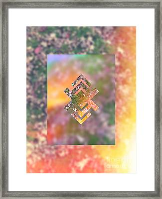 Fall Lawn Soaking Up The Sun Framed Print
