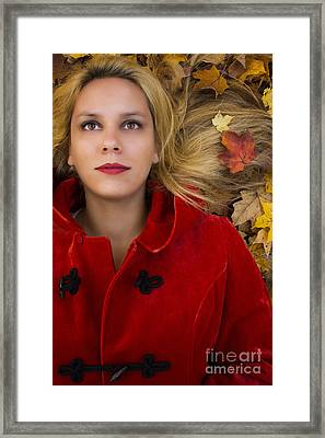 Fall Leaves Framed Print by Margie Hurwich