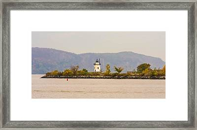 Fall Lighthouse Framed Print