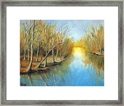 Fall Mirror Framed Print by Kenny Henson