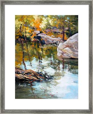 Fall Mirror Framed Print