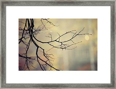 Fall Mood Framed Print by Jenny Rainbow
