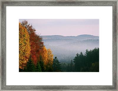 Fall Morning Framed Print by David Porteus
