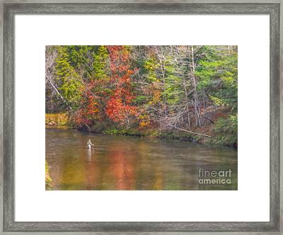 Fall Morning Fly Fishing Framed Print