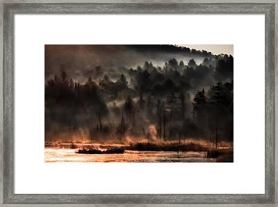 Fall Morning Fog Framed Print by Jeff Folger