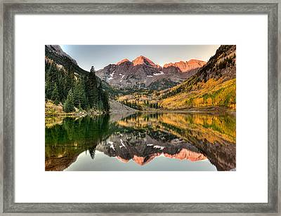 Fall N Reflections Framed Print